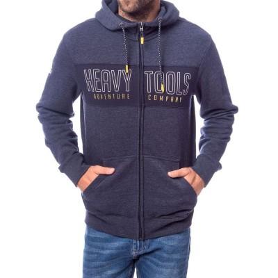 Heavy Tools SYRAN férfi cipzáras, kapucnis pulóver