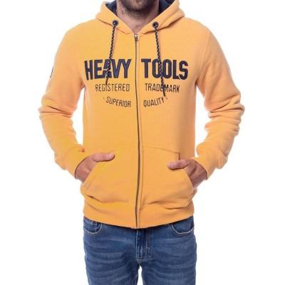 Heavy Tools SHAKEN férfi cipzáras, kapucnis pulóver