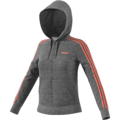 Adidas női kapucnis, cipzáras pamut pulóver