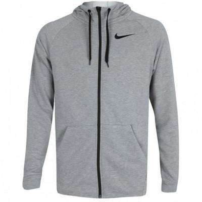 Nike férfi cipzáras, kapucnis pamut pulóver