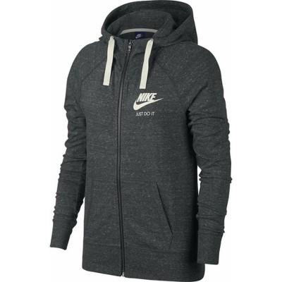 Nike női kapucnis, cipzáras pamut pulóver