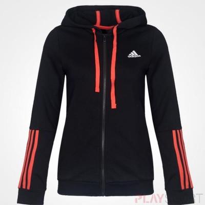 Adidas női kapucnis, cippes pamut pulóver