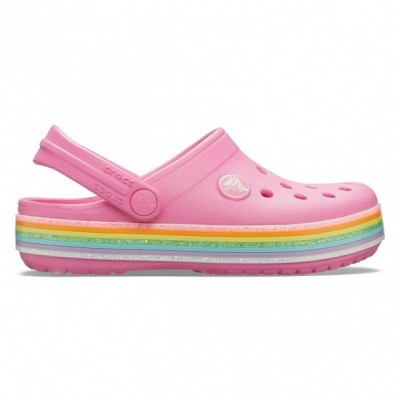 Crocs Crocband Rainbow Glitter gyerek papucs